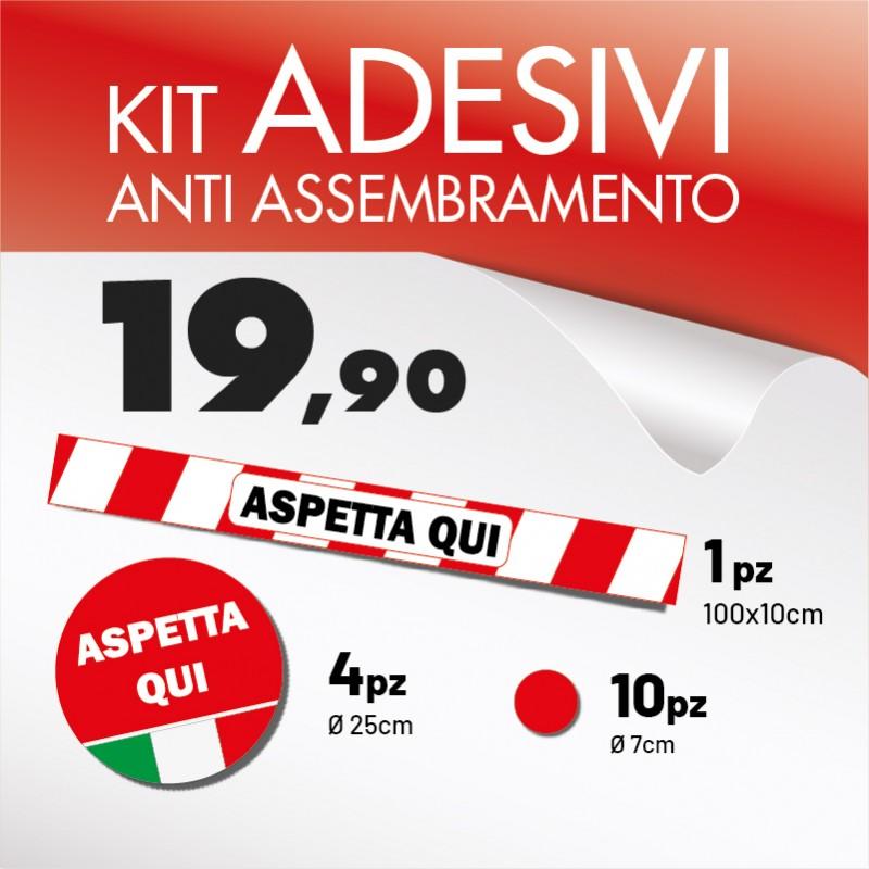 Kit adesivi antiassembramento covid19
