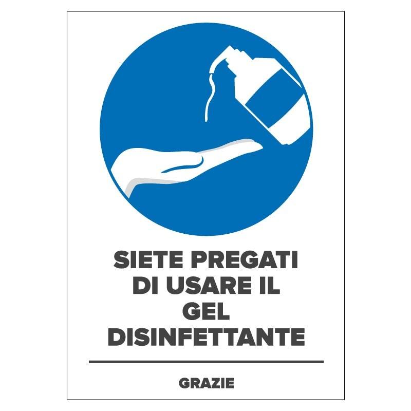 Obbligo di utilizzare il gel disinfettante per tenere le mani sempre pulite e sterili