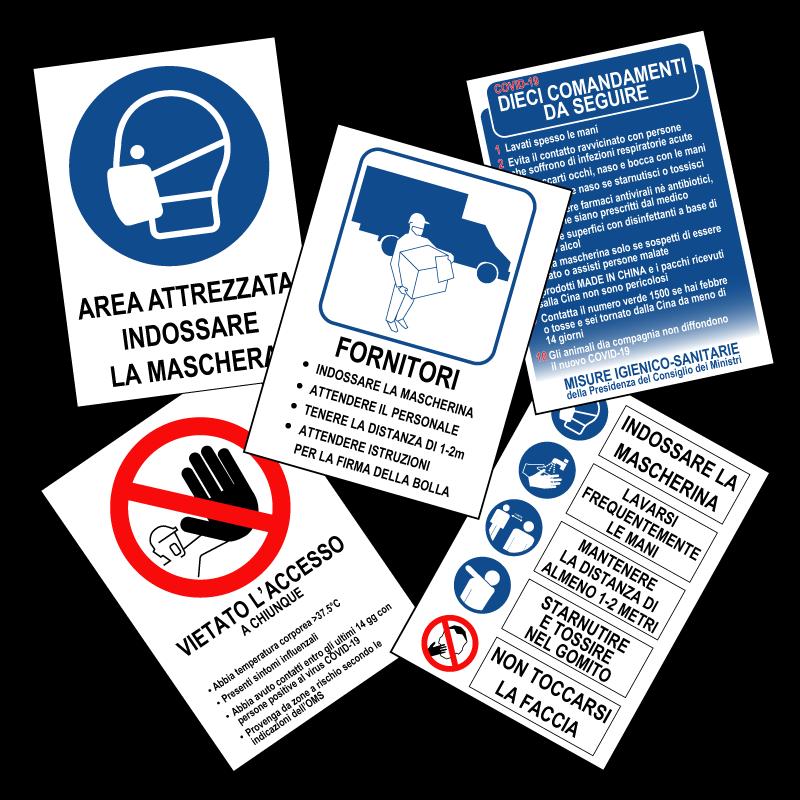 kit prescrizioni da cantiere, stampa su pvc o forex